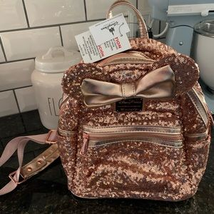 Rose Gold Loungefly Backpack